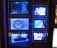Reklam kenar ışığı kutusu  akrilik panel led tanıtım a3 fotoğraf çerçevesi 5 adet/grup|LED Modülleri|Işıklar ve Aydınlatma -