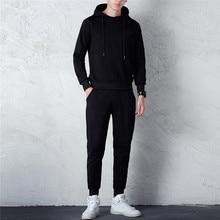 cd95ce5f4 2019 nuevo chándal hombres Otoño Invierno Color puro sudadera Top  pantalones conjuntos deporte traje chándal hombres más tamaño .
