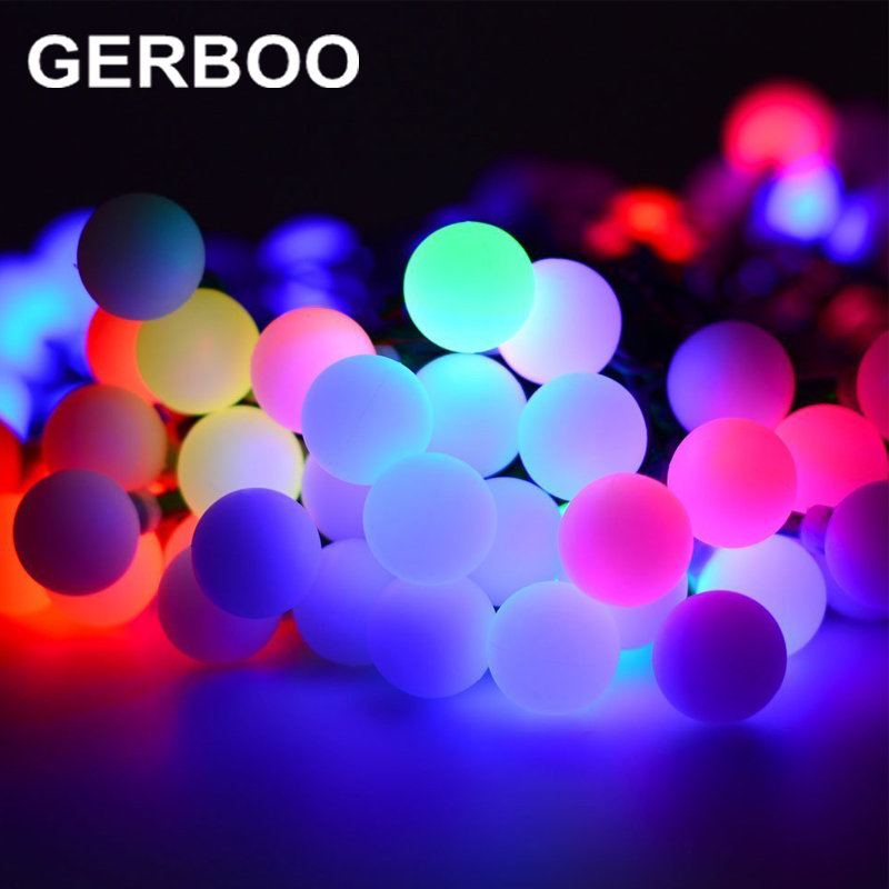 Ball Solar String Lights 20 LED Solar Lamp Outdoor Lighting Fairy Globe  Christmas Decorative Light For