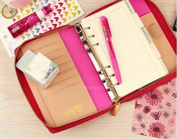 PU Spiral loose leaf refillable travel journal zipper dokibook notebook filofax planner agenda notepad binder A5 A6 цена