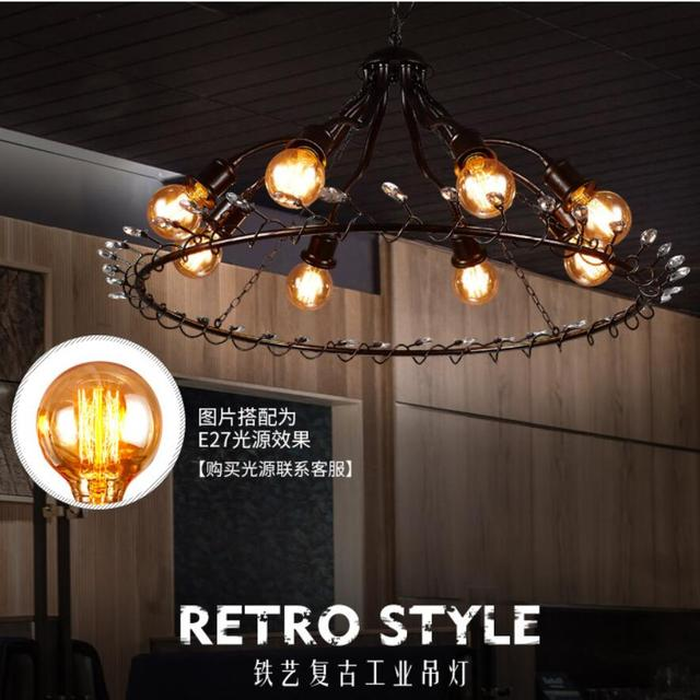 Us 349 99 Led Ceiling Lights Chandelier Lamps Pendant Dining Room Lighting Retro Fixtures In From