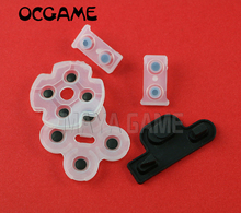 100sets/lot For playstation 3 PS3 Controller Dualshock 3 Repair Part clear Silicone conductive Rubber Pad replacement OCGAME