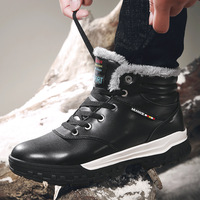 NAUSK Men Winter Boots Combat Ankle Boots Work Breathable Durable Men Army Forces Rubber Mid calf High Top Boots Shoes