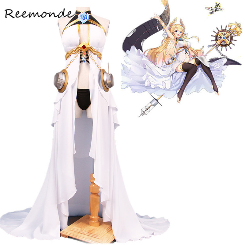 Anime Game Azur Lane Victorious Cosplay Costumes In Women Girls White Commander Dresses Game Costume Halloween Carnival Uniforms
