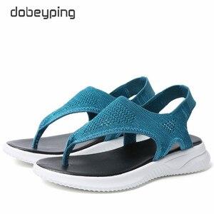 Image 2 - แฟชั่นตาข่ายผู้หญิงรองเท้าแตะรองเท้าแตะผู้หญิงรองเท้าผู้หญิงฤดูร้อน Cool Beach แฟลตหญิงขนาดใหญ่ขนาด 35 45