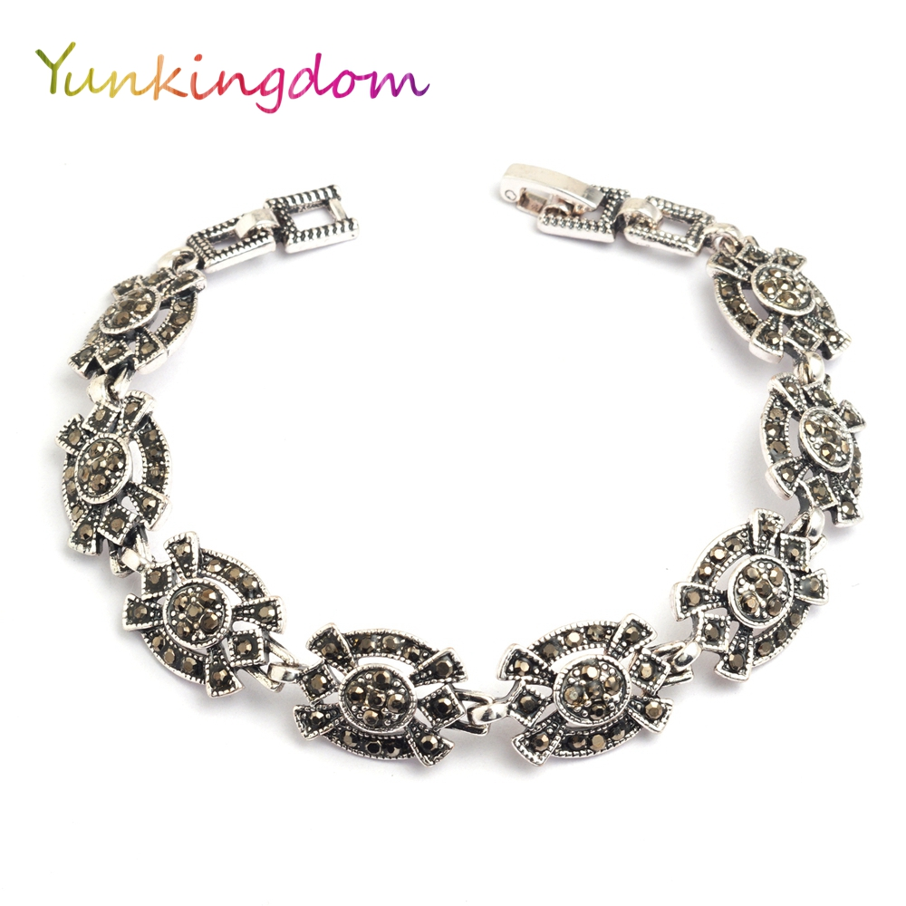 Yunkingdom Vintage una pulsera con encanto de resina bohemia étnica pulseras para mujeres K1800