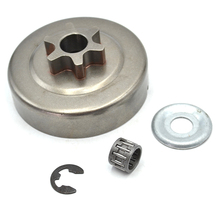 Chain Sprocket 3/8″ Picco 6T Clutch Drum Washer E-Clip Kit For STIHL Chainsaw 017 018 021 023 025 MS170 MS180 MS210 MS230 MS250