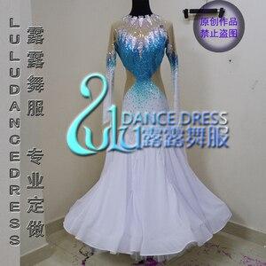 Image 1 - Nữ swing tango waltz Mịn mỹ 6 dance dress tay áo