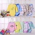 Venda por atacado! Bodysuits do bebê, meninos meninas roupas de algodão da criança infantil estampas de animais traje 5 pçs/lote e98