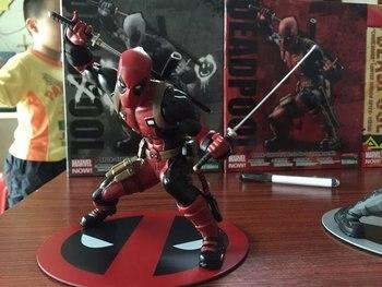 Deadpool figura Wade Wilson ARTFX + X hombres X-MEN Arma X de la guerra CIVIL de hierro hombre Wolverine de PVC MODELO DE figura de acción de juguete para regalo