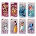 Блеск Жидкости Стежка Чип Дейл Эльза Русалка Aladdin Принцесса Жесткий Case Для iPhone 7 7 Plus 6 6 S 6 Плюс 5 5S SE