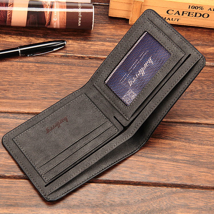 Baellerry 17 men wallets mens wallet small money purses Wallets New Design Dollar Price Male Wallet Purse with zipper Coin Bag 19