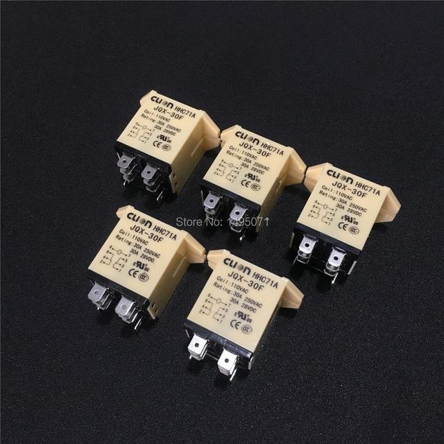 5pcs JQX 30F 2Z 30A HHC71A גבוהה כוח ממסר 12VDC 24VDC 110VAC 220VAC אלקטרומגנטית ממסרי JQX 30F 2Z 8 פינים DPDT 2NO 2NC