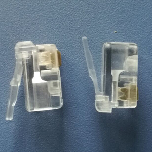 Image 2 - 500X Modular Connector 4P2C Gold Plated Plug High Quality