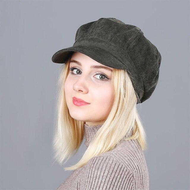 store designer fashion quite nice US $6.29 50% OFF|Beret Women's Hats New Arrivals For Women Corduroy Vintage  Fashion Boina Winter Hat Classic British Serpent Beret Stripes caps-in ...