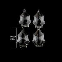 50 76mm Clear Crystal Chandelier Prism Cobweb Shape Lights Lamps Hanging Drop Pendants For Home Decoration