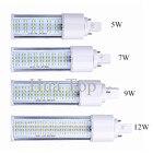 2835 SMD led light 5W 7W 9W 12W E27 B22 E14 G24 PL Corn Bulb Lamp Bombillas Spotlight 180 Degree AC85-265V Horizontal Plug Light