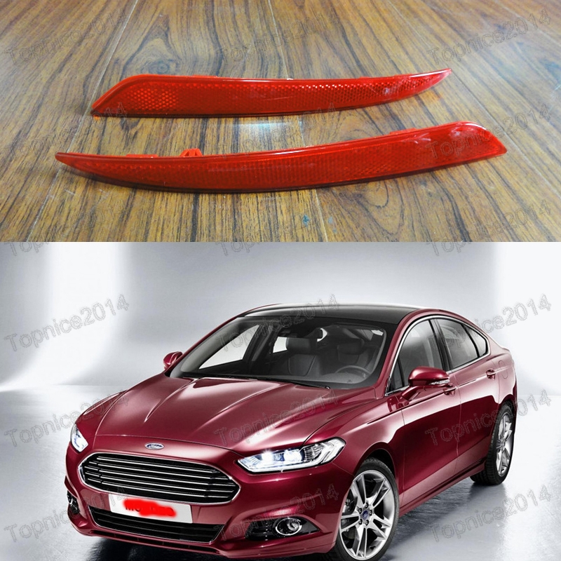ФОТО 1Pair Rear Bumper Reflectors Light Lamps For Ford Fusion Mondeo 2013-2016