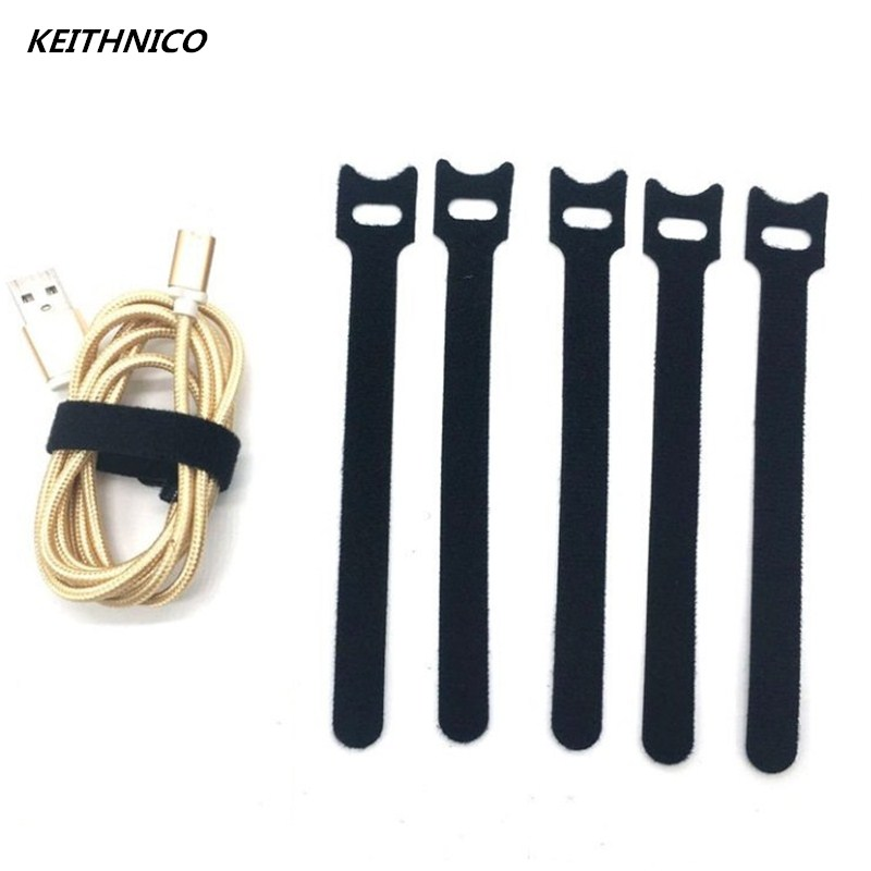 50Pcs Nylon Fastening Cable Organizer Ties Wire Cord Straps Management Cable Winder for Iphone 12x150mm Black metal wire and cable ties stainless steel marine harness straps 4 6 200