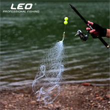Leo 1pc OVERLORD Iron & Nylon Fishing Dip Net Without Hook Safe Fishing Nets Fishing Rod Attachment Tackle Box Tool Accessories