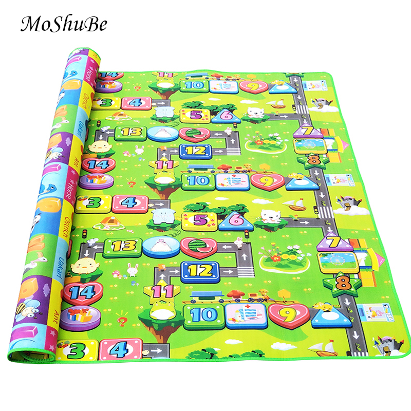 2 SIDE KIDS CRAWLING EDUCATIONAL GAME PLAY MAT SOFT FOAM PICNIC 3 SIZES NEW