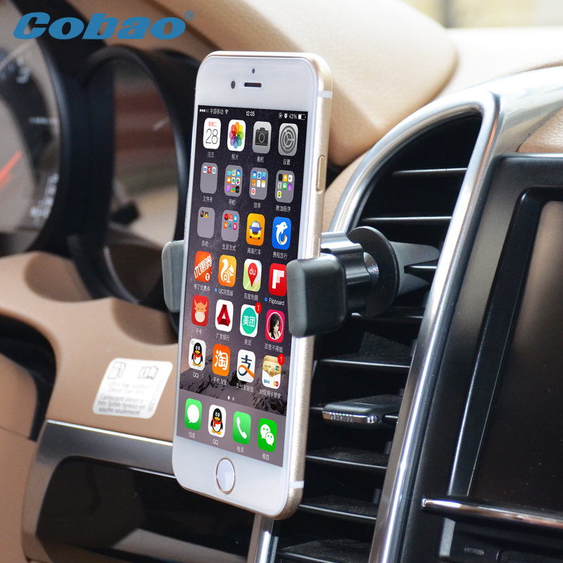 Cobao Universal Car Phone Holder Air Vent Mount GPS Stand 360 ...