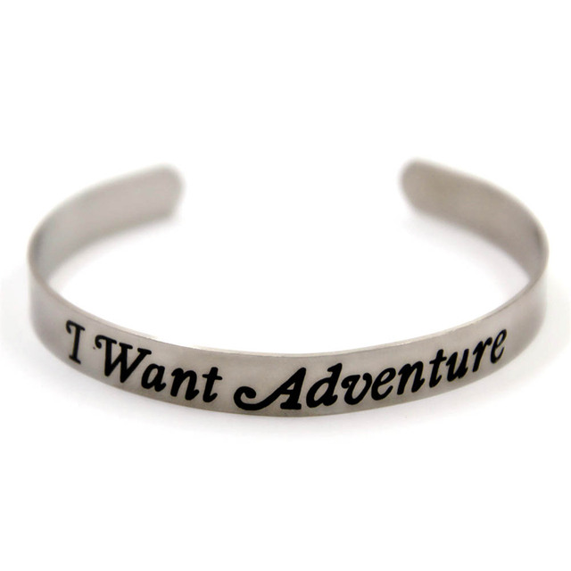 Beauty And The Beast I Want Adventure Stainless Steel Bangles