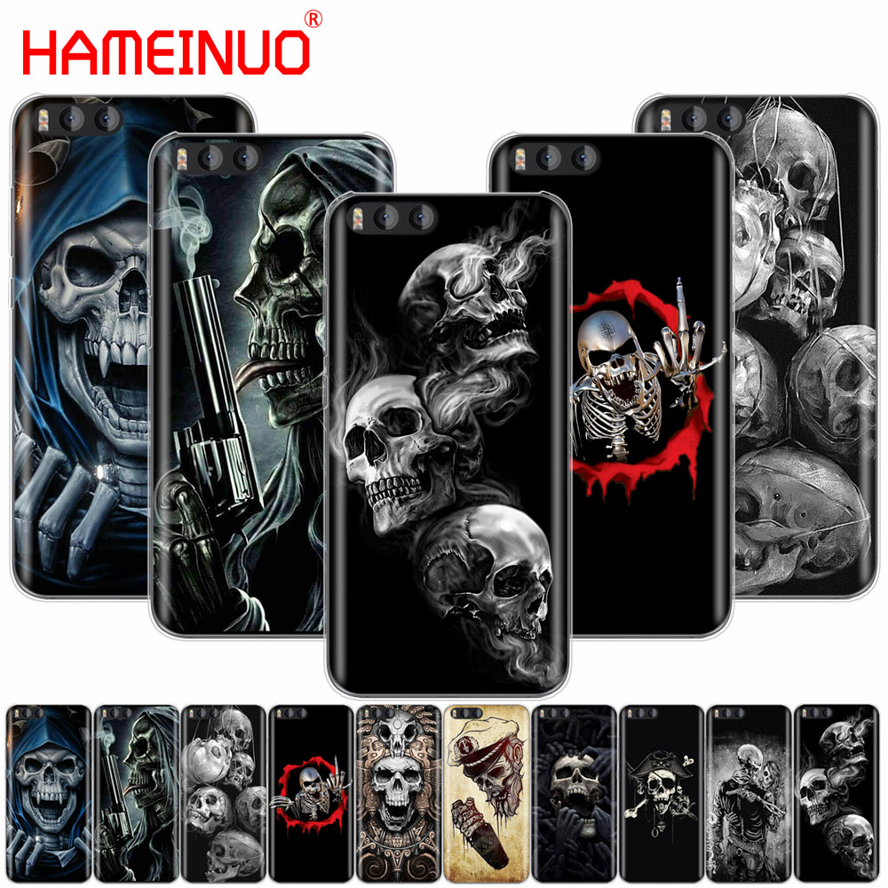 HAMEINUO Horror Skull Cover Case for Xiaomi Mi 3 4 5 5S 5C 5X 6 Mi3