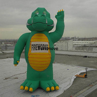 giant inflatable godzilla model cartoon giant inflatable dinosaur stand balloon cartoon mascot with blower Model event