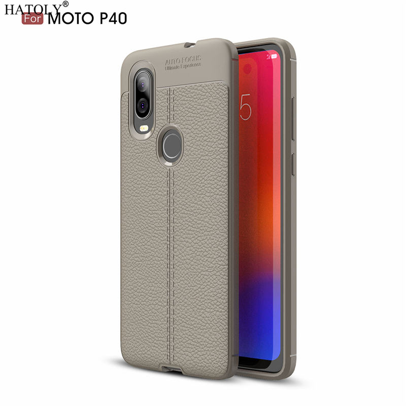 Case For Motorola Moto One Vision Pattern PU Leather Dirty Resistant Soft TPU Silicone Back Cover Case For Moto One Vision P40 in Fitted Cases from Cellphones Telecommunications