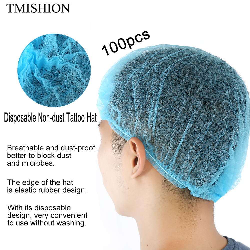 Tattoo Accesories 10pcs Microblading Tattoo Disposable Health Hat Ultra-thin Mesh Elastic Safe Sterile Dustproof For Permanent Makeup Accessories Tattoo & Body Art