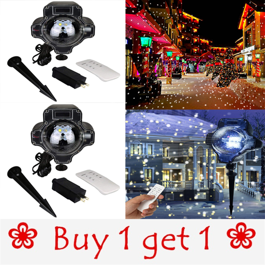 Christmas Laser Light White Snowfall Projector IP65 Moving Snow Outdoor Garden Laser Projection Lamp For New Year Party decor