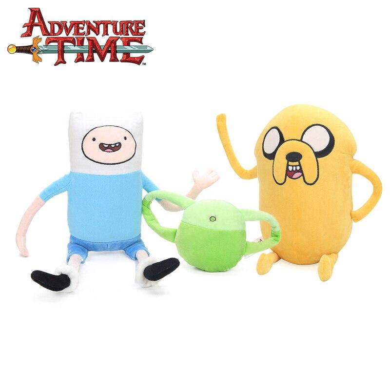2pcs/set 24-43cm Jake Penguin Gunter Finn Beemo BMO Plush Toy Adventure Time Soft Stuffed Animal Dolls Party Supplies Brinqudoes