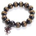 Fashion Natural jewelry High Quality Buddhist Prayer Beads Bracelets Great Compassion Mantra Ebony Buddha Bracelet men