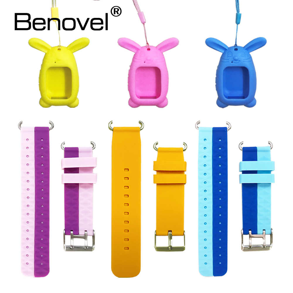 Replace Straps For Q90 Q100 Q750 Q80 Q60 Kids Smart Watch Replacement Child Silicone Wrist Belt Pendant Protective Cover Case