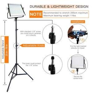 Image 5 - Capsaver L4500 写真撮影の照明 LED 5600k 調光可能な 3200 K 5600 18K 15 ワット CRI 95 金属パネル三脚スタンド