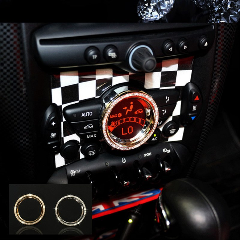 NEW Luxury Crystal car interior accessories For mini cooper Countryman Roadster Paceman Coupe Clubman JCW 2011