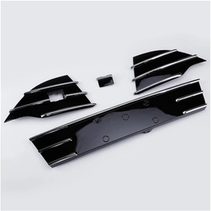 4pcs/set high version Grille strip Filter Grill Cover Trims for Ford Kuga Escape 2013 2014 2015 2016 BY EMS