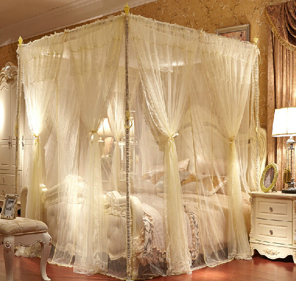 High quality luxury palace queen king size bed mosquito - Canopy bed ideas for adults ...