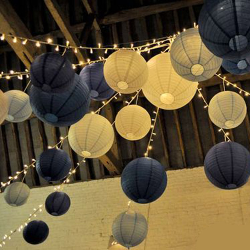 1pc 30CM Chinese Paper Lanterns Paper Decorative Balloon Wedding Home Festival Yard Garden Hanging Decor Fiesta Daily Decor in Party DIY Decorations from Home Garden