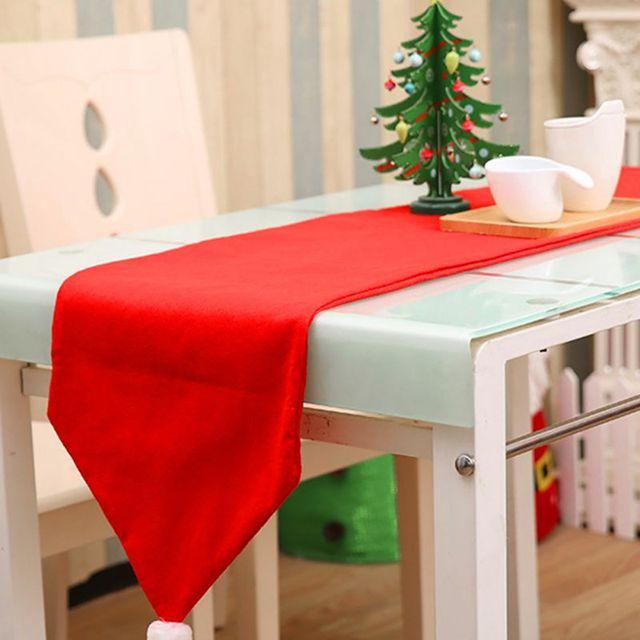 christmas table runner 34176cm tablecloth xmas party dinner table decor home hotel christmas decoration - Decorated Christmas Tables Parties