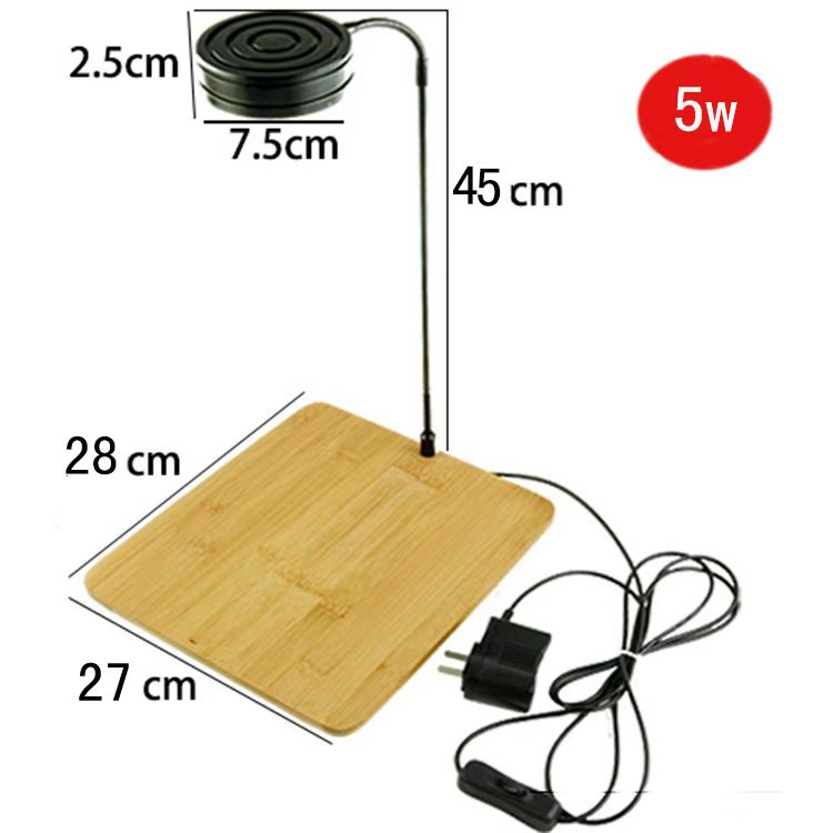 Lumière LED lampe d'aquarium 3 W-7 W Mini Aquarium lampe à LED d'eau douce + support en bambou - 4