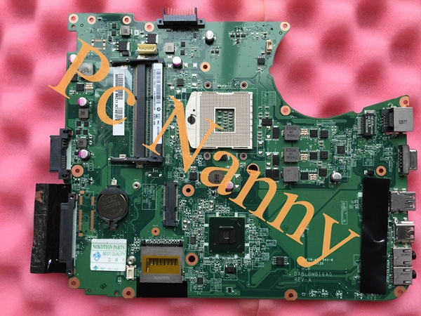 ФОТО Original A000080670 DABLBMB16A0 Laptop Motherboard for Toshiba L755 series system board hm65 Integrated test before shipment
