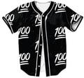 Summer Fashion Clothing Women/Men Outfits 100 Emoji Jersey Casual Sexy Shirt Short Sleeve Cardigan Shirts