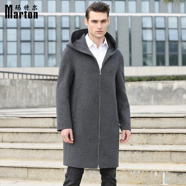 Marton Men 100% Wool Coat Abrigo Hombre Woolen Coat Male Winter ...