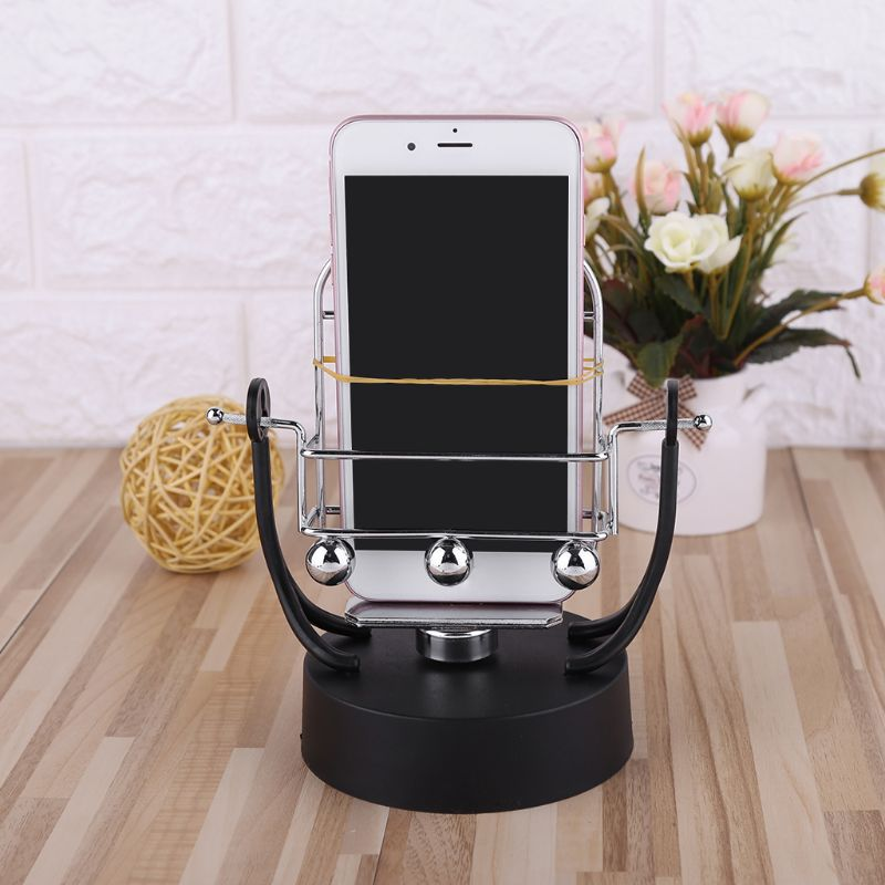 Hearty Novel Revolving Swing Balance Ball Phone Holder Amount Perpetual Motion Physics Intelligent Automatic Pedometer Phone Holder Mobile Phone Holders & Stands Mobile Phone Accessories