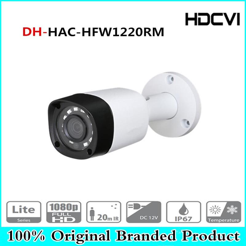DH Wholesale HAC-HFW1220RM 2MP HDCVI IR Bullet Camera Smart IP67 2MP 1080P HD CCTV Lite Series DH-HAC-HFW1220RM With Dahua цена