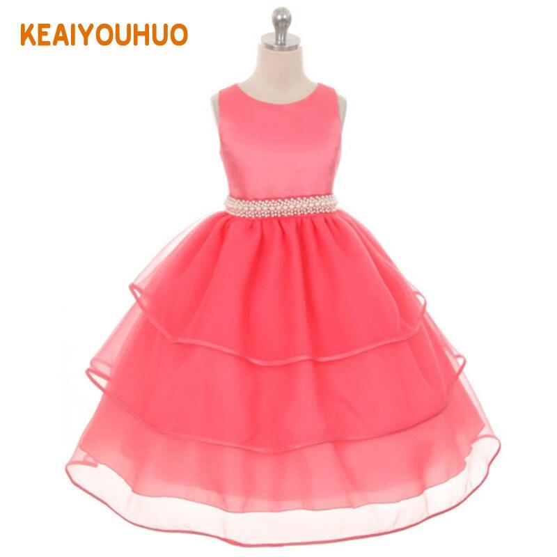 Lace Kid Girls Flower Dress Girl Dresses Prom Wedding Party Dress Girls Formal elegant Princess Birthday Dress 2-12 years стоимость