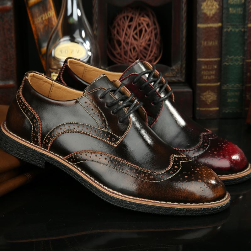 Leather Men Shoes Pointed Toe Flat Shoes Chaussure Homme Men Dress Shoes Handmade Oxford Shoes For Men Zapatos Hombre