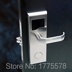 RF Card Hotel Door Lock, hotel lock, 1443A 13.56MHZ RFID Card hotel lock L58 with DND and panic release function